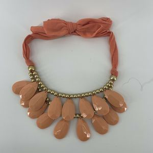 Blush Coral Layered Beaded Chunky Necklace